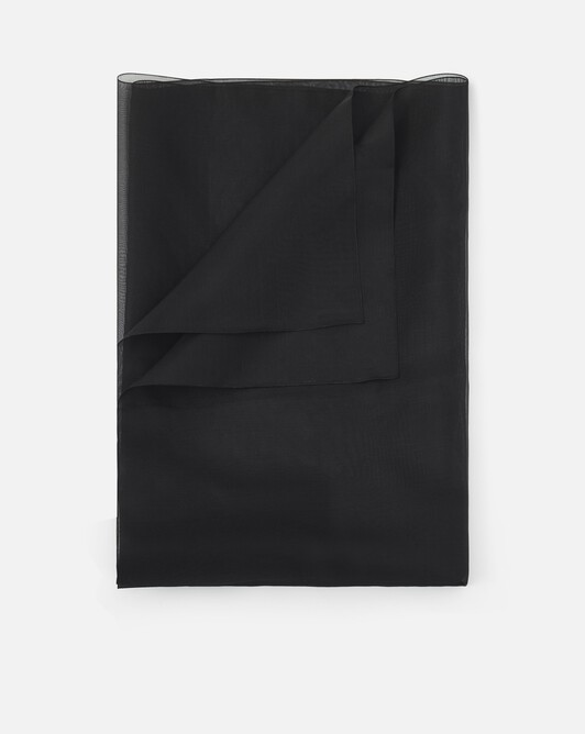 Shawl in organza - Noir