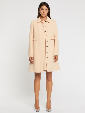 Double-wool crepe coat - Gingembre