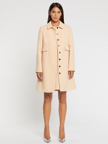 Manteau en crêpe de laine double - Gingembre
