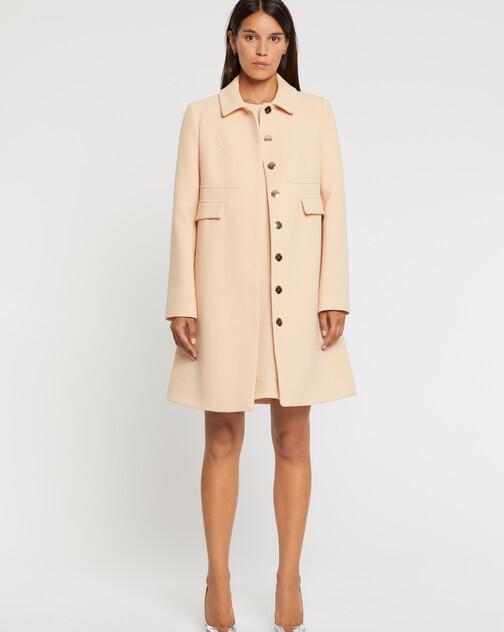 Manteau en crêpe de laine double