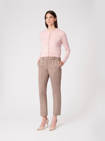 Merino wool cardigan - Rose pale