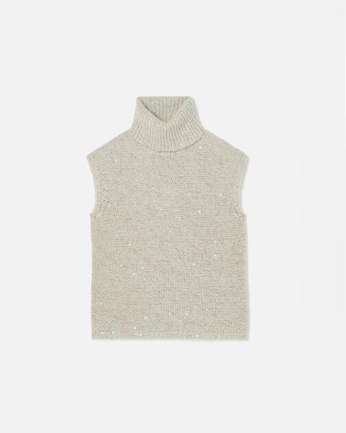 Sequin-embellished vest