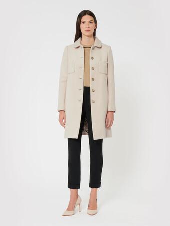Manteau en double face - Mastic