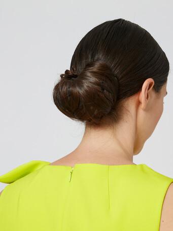 Satin-back crepe dress - Lime