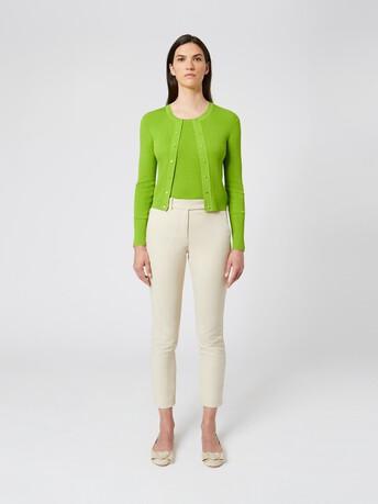 Silk and cotton cardigan - Kiwi