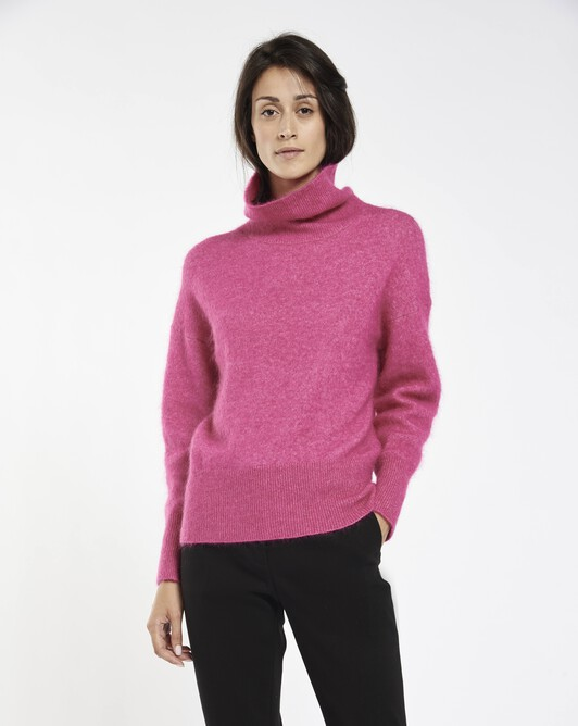 Mohair sweater - Fuchsia