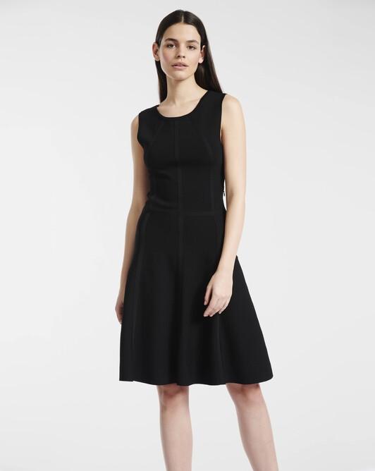 Dress in viscose - Noir