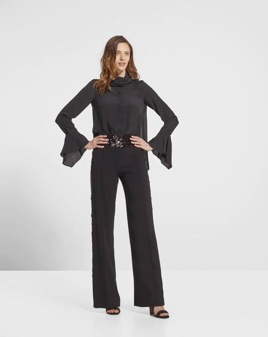 Pantalon à paillettes noires - Noir