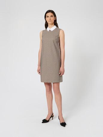 Poplin dress - Taupe