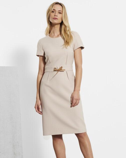 Stretch tricotine dress