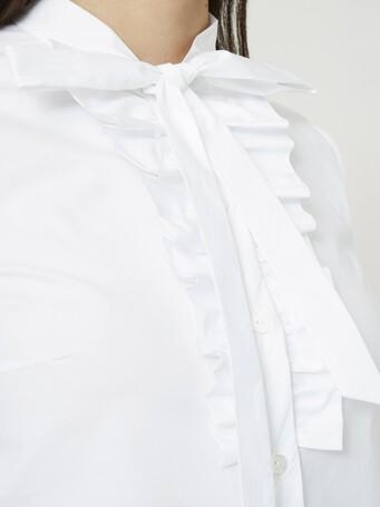 Chemise en popeline de coton - Blanc