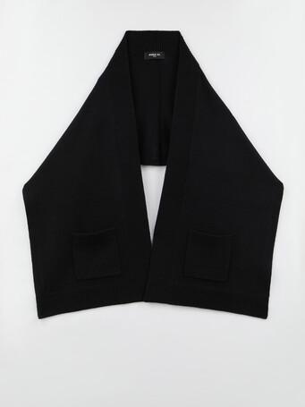 Foulard en laine et en cachemire - Noir