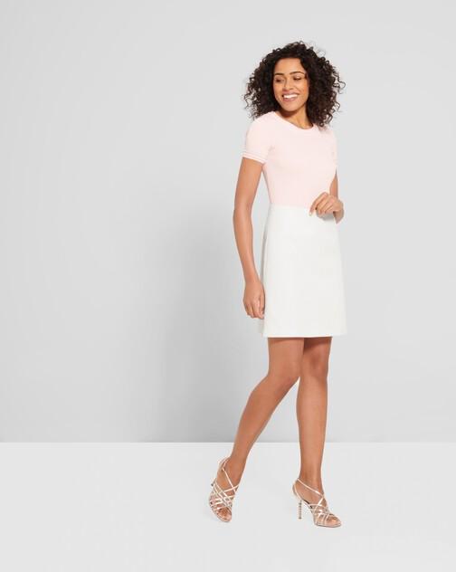 Cotton-piqué skirt