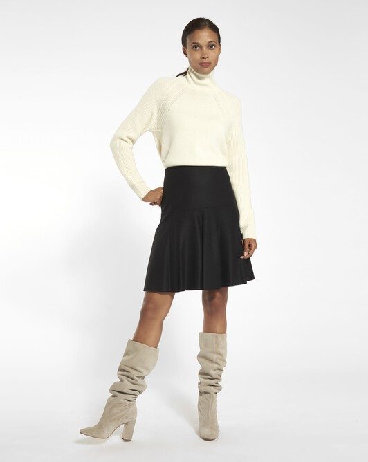 Wool skirt - Noir