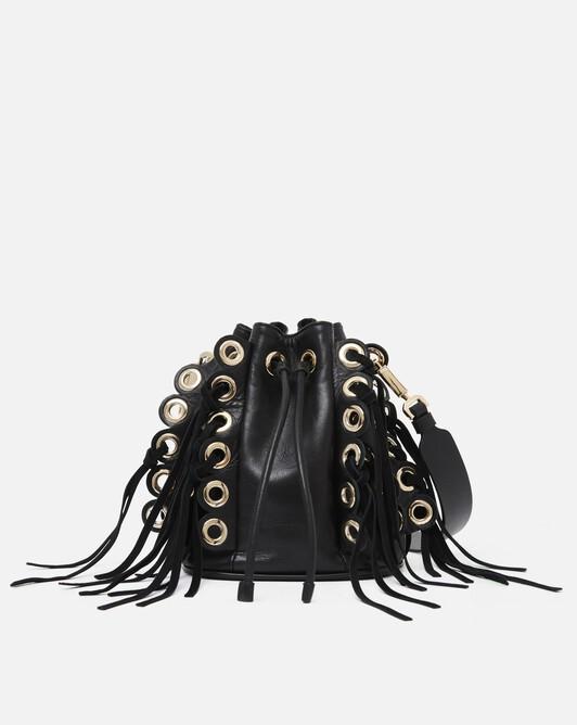 Nappa leather bag - black