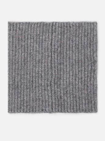 Alpaca wool collar - Souris