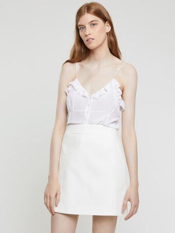 Cotton couture skirt - White