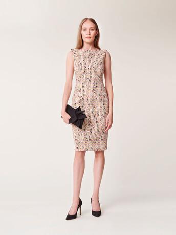 Straight-cut jacquard dress - Multicolore