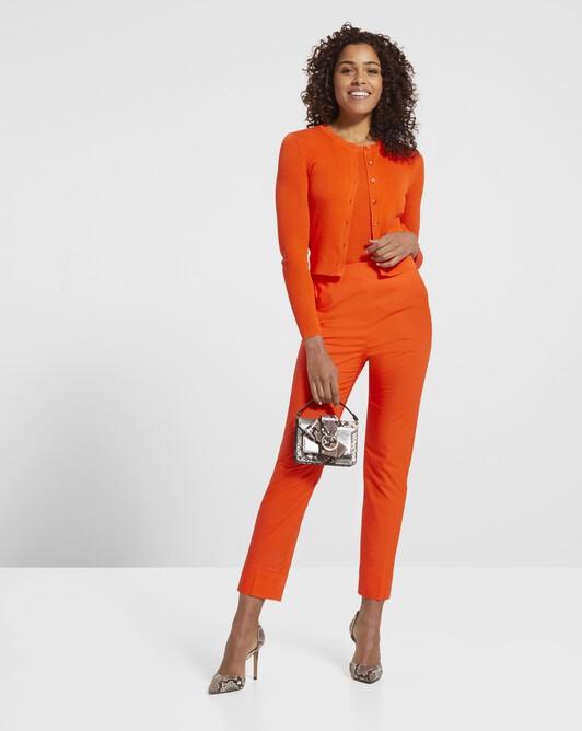 Débardeur en soie et coton - Orange