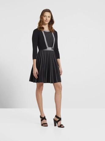 Veste courte en  viscose - Noir / blanc