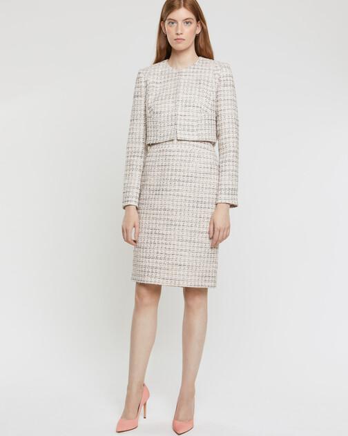Mini-knot tweed skirt