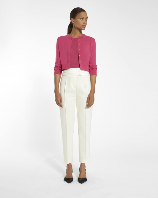 Wool tricotine trousers - Naturel