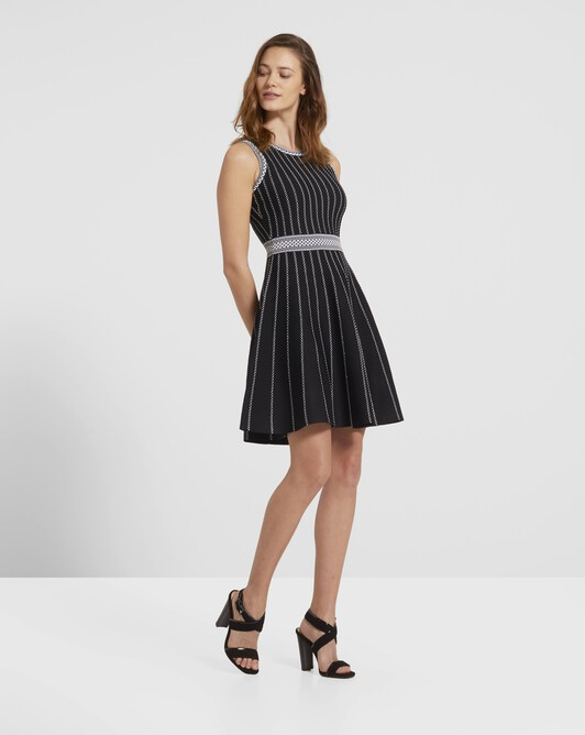 Viscose dress - Noir / blanc