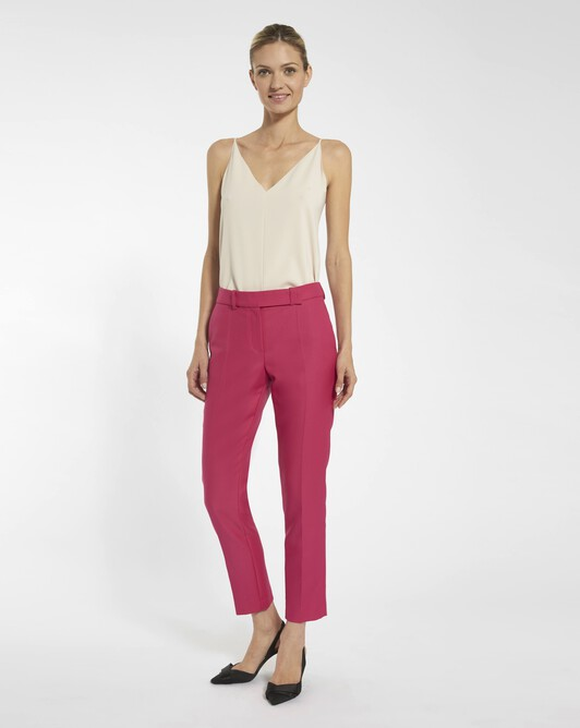 Wool drill trousers - Fuchsia