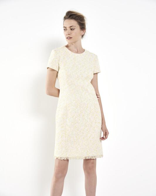 Tweed dress - Ecru / paille