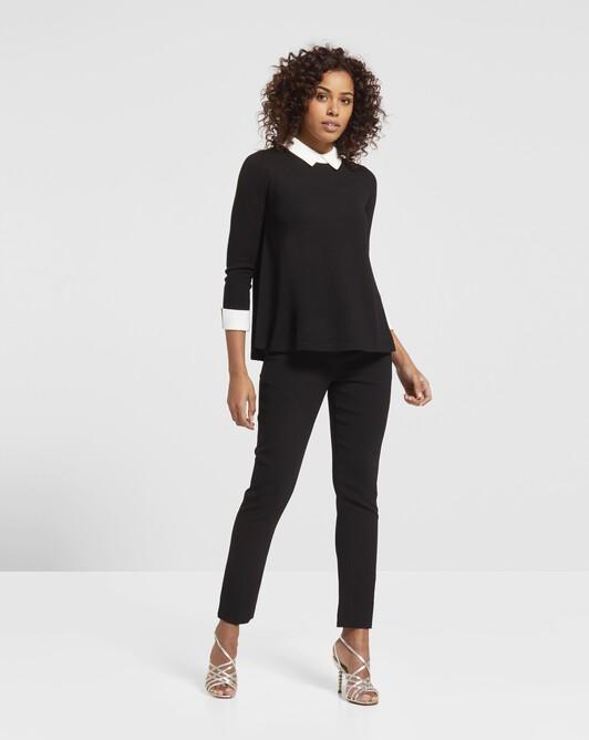 Merino wool sweater - Noir / blanc