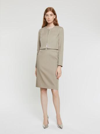 Veste en coton couture - Taupe