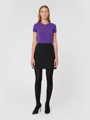 Jupe en tricotine stretch - Noir