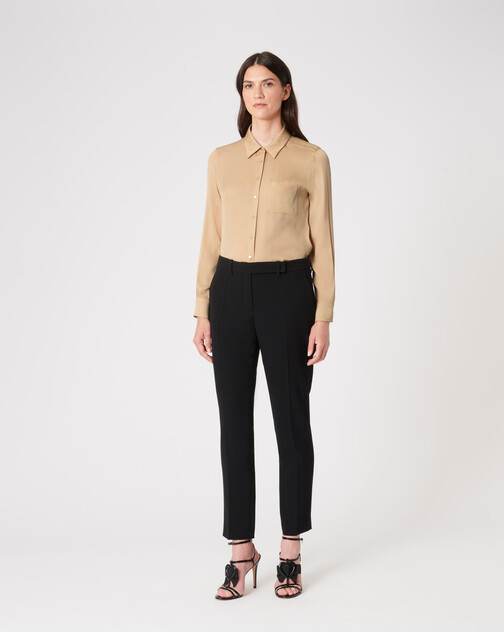 Stretch-charmeuse shirt
