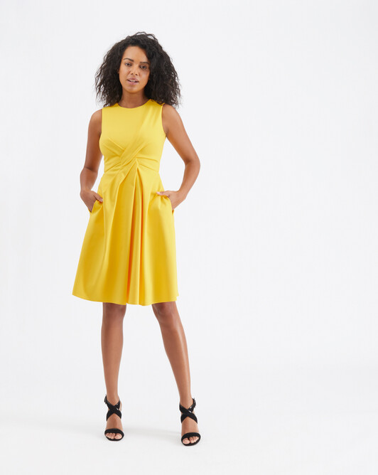 Cotton-tricotine dress - Mimosa