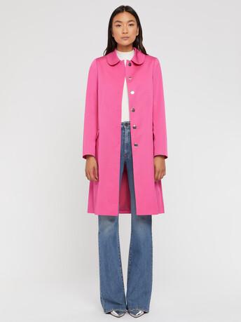 Manteau mi-long à col Claudine - Pink