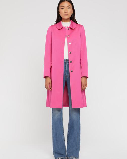 Manteau mi-long à col Claudine