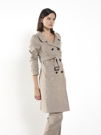 Manteau en lin - Beige