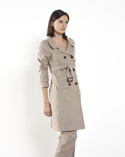 Linen coat - Beige