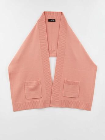 Wool and cashmere scarf - Eau de rose