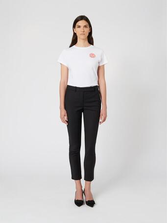 Pantalon en tricotine de coton - Noir