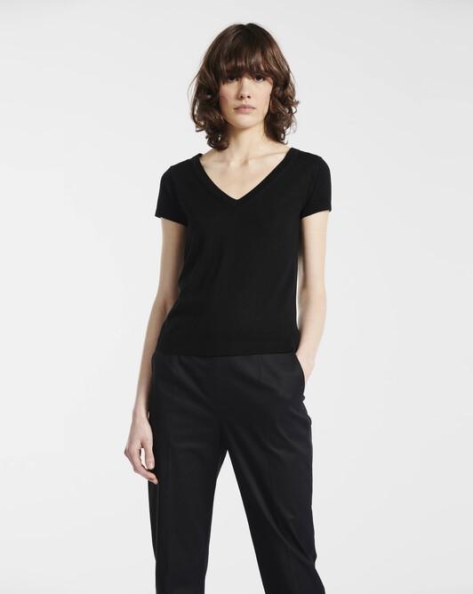 Cashmere silk sweater - Noir