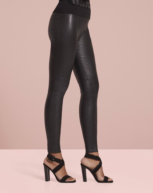 Calfskin and goatskin leather sandals - Noir