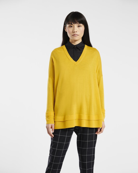 Sweater in merino wool - Bouton d'or