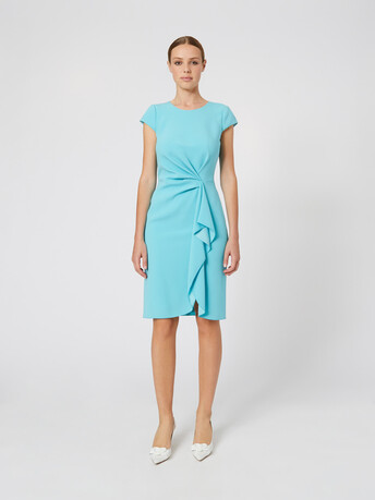 Satin-back crepe dress - Curacao