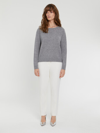 KNITTED CARDIGAN - Souris