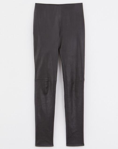 Pantalon slim en cuir d'agneau stretch