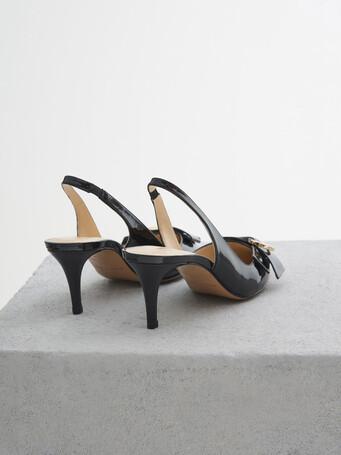 Patent leather court shoes - Noir