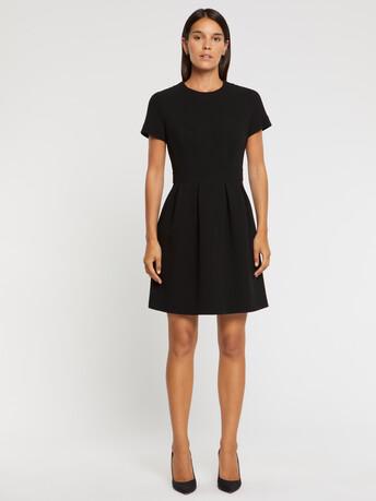Wool-crepe dress - Noir