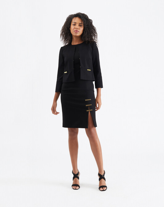 Veste en tricotine de coton - Noir