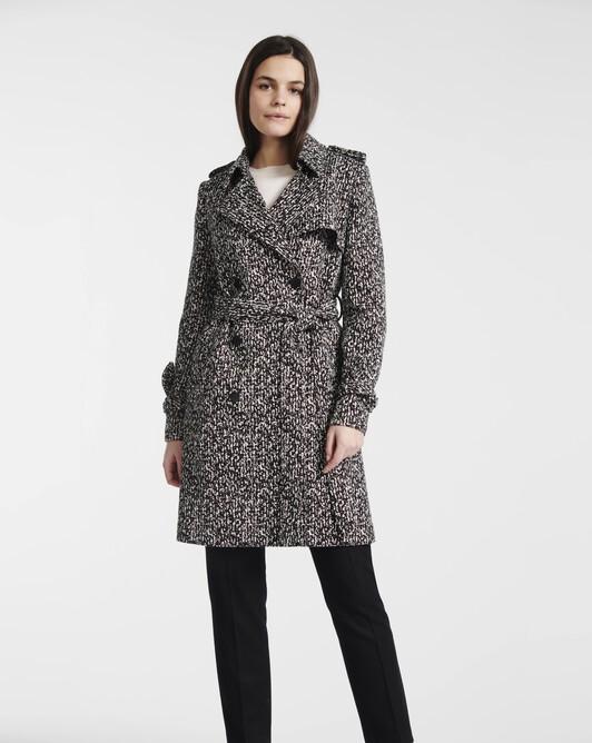 Manteau en tweed noir et blanc - Noir / blanc